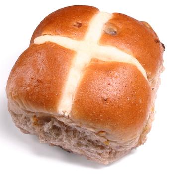 an easter hot cross bun.