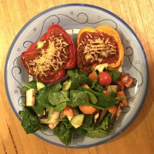 Stuffed Capsicum With Bolognese
